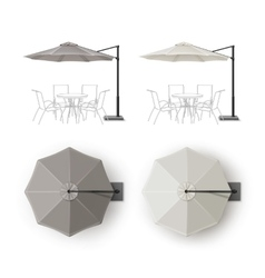 Set of Patio Outdoor Restaurant Round Umbrella vector