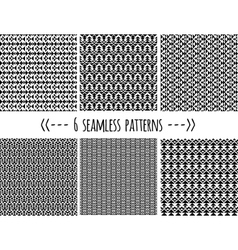 set of six geometric patterns vector image