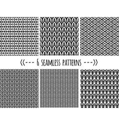 set six geometric patterns vector image