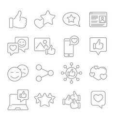 Social network network people and media icons vector