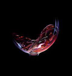 splash of red wine in a glass vector image