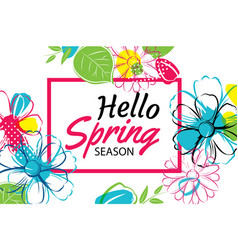 spring season banner template background vector image