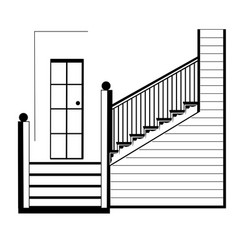 stairs interior vector image