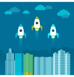 start up concept in flat style vector image