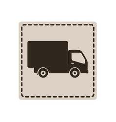 Symbol delivery car icon vector