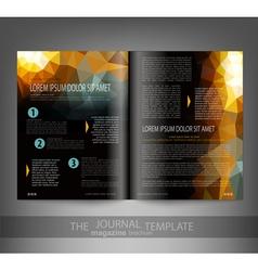 Template print edition journal vector