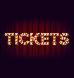Tickets banner sign for arts festival vector