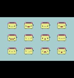 Toaster emoji vector image