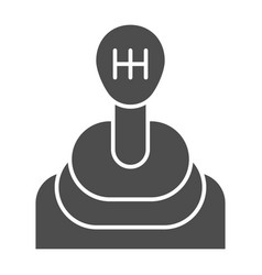 Transmission solid icon gear shift vector