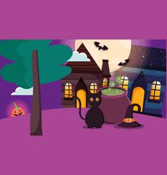 trick or treat - happy halloween vector image