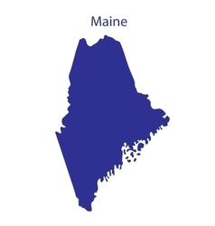 United States Maine vector