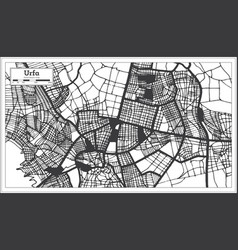 Urfa turkey city map in black and white color in vector