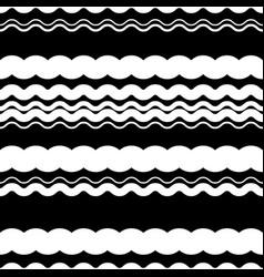 wavy zigzag lines repeatable pattern - irregular vector image