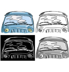 windscreen vector image