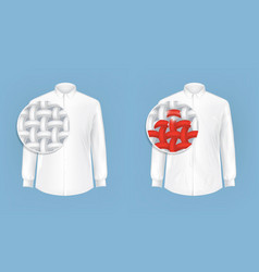 set of of white shirts with vector image vector image