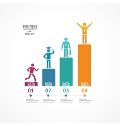 Step by step to success infographics vector image vector image