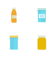 pill bottle for capsules vector image vector image
