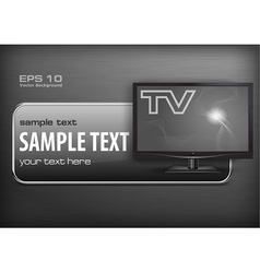 Promotion banner TV vector image vector image