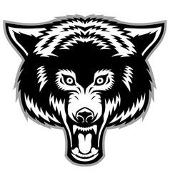 wolf head mascot vector image vector image