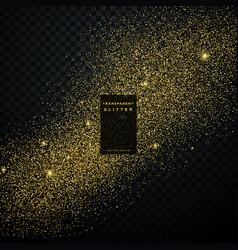 gold glitter confetti explosion on black vector image