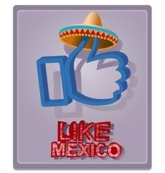 Mexican style in a sombrero vector