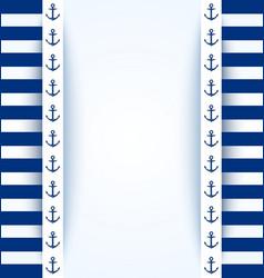 Nautical background vector image