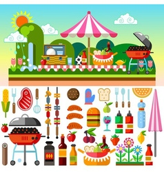 Picnic Summer Time vector image