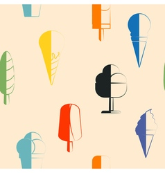 Seamless background with ice cream vector image vector image