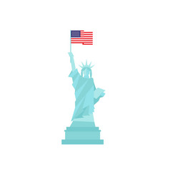 statue of liberty in united states of america with vector image