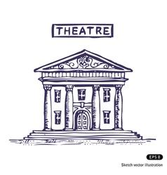 Theatre building vector image