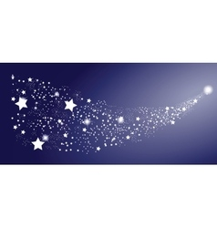 Comet Star on White Background vector image vector image