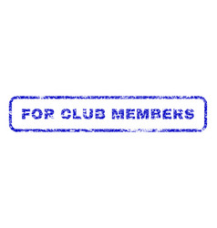for club members rubber stamp vector image