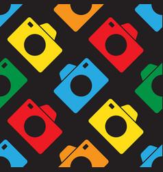 seamless - color cameras vector image vector image