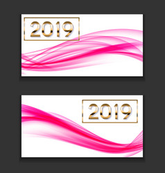 2019 abstract new year on vector image