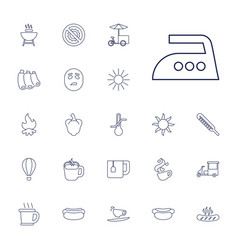 22 hot icons vector