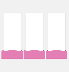3 options infographics web template set vector image
