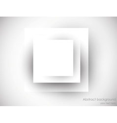 Abstrac backgroudn with gray square vector image vector image