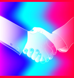 Abstract handshake on an abstract background vector