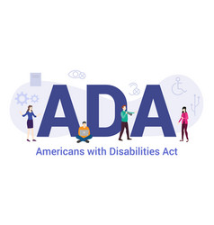 Ada americans with disabilities act concept with vector