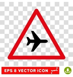 Airplane Danger Eps Icon vector image