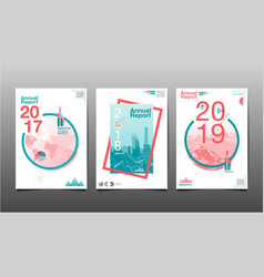 Annual report future business vector