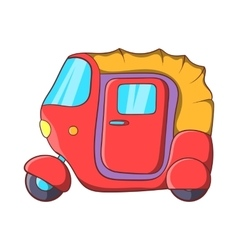 Auto rickshaw icon in cartoon style vector image