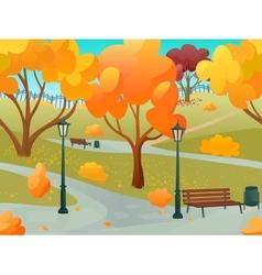 Autumn Park Landscape vector
