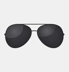 Aviator police isolated sunglasses vector