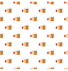 beer in hand pattern seamless vector image