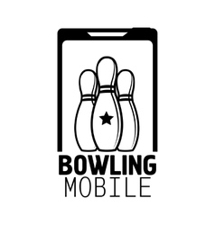 Bowling emblems labels badges and designed vector image