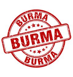 Burma stamp vector