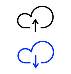 cloud line icon vector image
