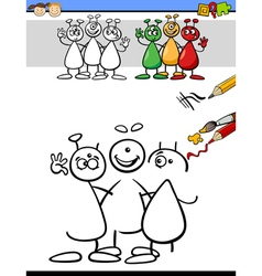 Color and drawing task for kids vector