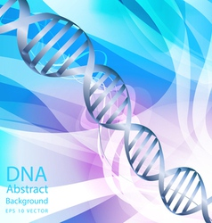 Dna white colour abstract background vector